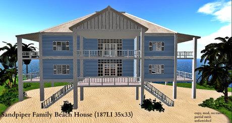 Sandpiper Family Beach House (187LI 35x33)