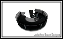 LED Midnight Black Corporate Reception Desk (Small Version)