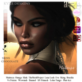 * Kyxe Designs * Realistic Women Skins Chocolate Tone with all the Makeups  With Mesh Body Appliers  Bento Compatible