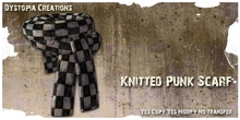 .dystopia. knitted punk scarf