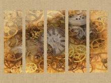 Steampunk Clock Art Panels