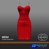 RM-Womens Mesh Corset Dress red