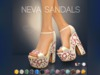 Pure Poison - Neva Sandals - Ad-ons for Maitreya, SLINK and The Mesh Project Medium Feet