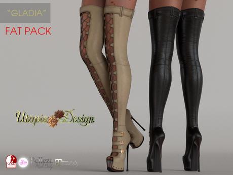 "**UTOPIA@Design** - ""GLADIA"" - (FAT PACK) Maitreya, Slink, Belleza, TMP"