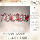 ASW~The Freak Show Marquee Light