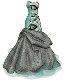 ALB JANNA gown wearable DEMO - mesh to SLink, Maitreya, fitted, Classics