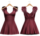 Blueberry - Scarlet Angel Wings Dress - Maitreya, TMP, Belleza (All), Slink Physique Hourglass - ( Mesh ) Cherry