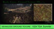 Vita's Textures - ROCKY GRASS 3D 1024 Seamless 2016