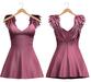 Blueberry - Scarlet Angel Wings Dress - Maitreya, TMP, Belleza (All), Slink Physique Hourglass - ( Mesh ) Pink