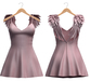 Blueberry - Scarlet Angel Wings Dress - Maitreya, TMP, Belleza (All), Slink Physique Hourglass - ( Mesh ) Pixie