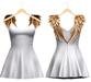 Blueberry - Scarlet Angel Wings Dress - Maitreya, TMP, Belleza (All), Slink Physique Hourglass - ( Mesh ) White