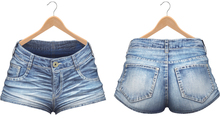 Blueberry - Jimena Mesh Denim Shorts - Maitreya, TMP, Belleza (All), Slink Physique Hourglass - Denim Bluelove