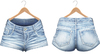 Blueberry - Jimena Mesh Denim Shorts - Maitreya, TMP, Belleza (All), Slink Physique Hourglass - Denim Light Blue