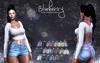 Blueberry - Jimena Mesh Denim Shorts - Maitreya, TMP, Belleza (All), Slink Physique Hourglass - Fat Pack