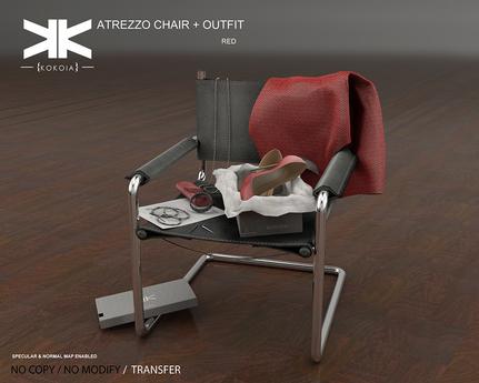 Atrezzo :: Chair & Outfit :: {kokoia} :: Red