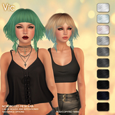 /Wasabi Pills/ Vic Mesh Hair - B&W