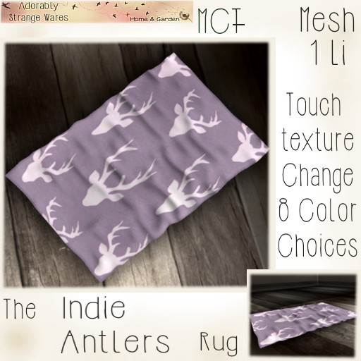 ~ASW~ The Indie Antler Rug