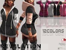 :::Revelation::: RV Callie hooded shirt  12 colors