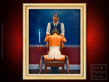 THE PERFECTIONIST Jack Vettriano EROTIC ART | Gold Fluted Frame