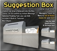Suggestion Box (Metal) - Job Applications, Surveys, & More