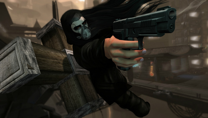 Male Twin Pistol Pose #1