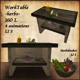 Herbs work Table, Healer,Witch,with Animation.