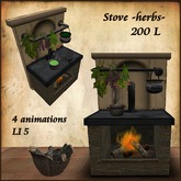 Herbs Stove,Healer,Witch,with Animation.