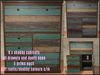 6 x Cabinet Shabby coloured wood bar bedroom kitchen C/M Boxed