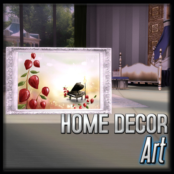 Art - Blooming Music (Antique Ivory Decor)