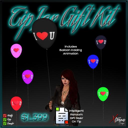 TipJar Gift Kit - LoveYou Balloons -