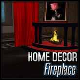 Black and Red Marble Corner Fireplace with glow and sound