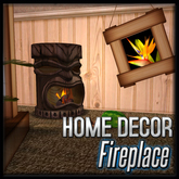 Tiki Fireplace (Tequila Sunrise Decor)