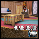 Tiki Table (Tequila Sunrise Decor)