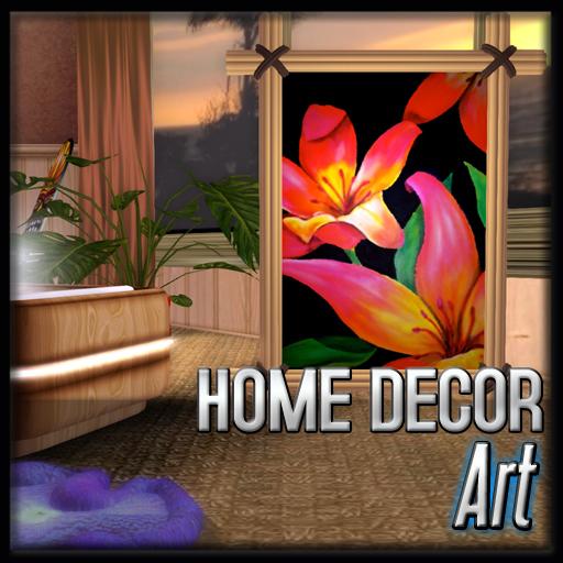 Art - Tropic Florals (Tequila Sunrise Decor)