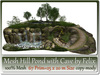 Mesh hill pond with cave 67 prim 25x20m size copy mody