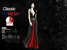 Reign Dress Gothic Red