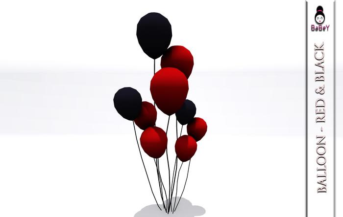 BABEY | BALLOON - RED BLACK [FOR GOTHIC/VAMPIRE/DARK PARTY]