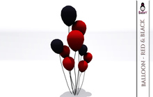 BABEY | BALLOON - RED BLACK [FOR GOTHIC/VAMPIRE/DARK PARTY]