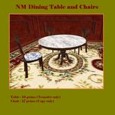 L$1 Antique Dining Table and Chair Set