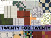 Twenty TEXTURES for TWENTY linden PACK ONE