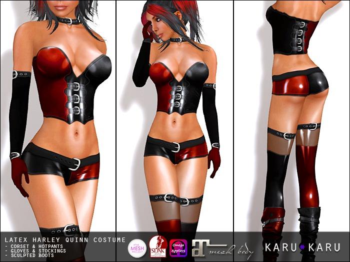 KARU KARU - Latex Harley Quinn Costume