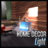 Wood Window with Light (Rustic Log Decor)