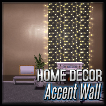 Black Lighted Accent Wall (Crown Anastasia Decor)