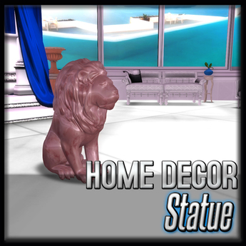 Akaesha's Red Stone Lion Statue (Ambrosia Royale Decor)