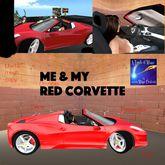 Me & My Red Corvette Drivable & sound menu(crate)