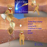 Teddy Bear Avatar with balloons (crate)