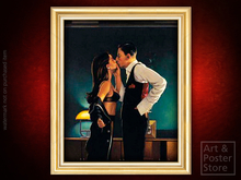 PINCER MOVEMENT Jack Vettriano EROTIC PAINTING | Gold Fluted Frame