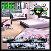 FREE ReACT HUD (All in One!) - FREE AO, FREE Hug & Kiss Animator, FREE Dance HUD, FREE Animated Furniture, FREE Skybox
