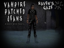 ..::RAVEN'S GAZE::.. MEN'S VAMPIRE PATCH PANTS