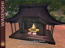 Small Buddhist shrine and contents (mesh)